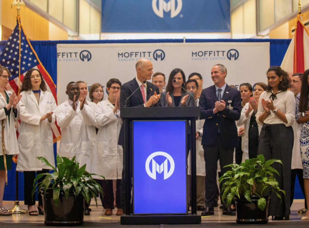 Governor Scott speaks at the Moffit Cancer Center