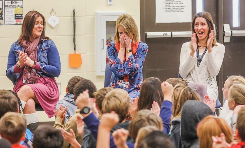 Educator surprised with award
