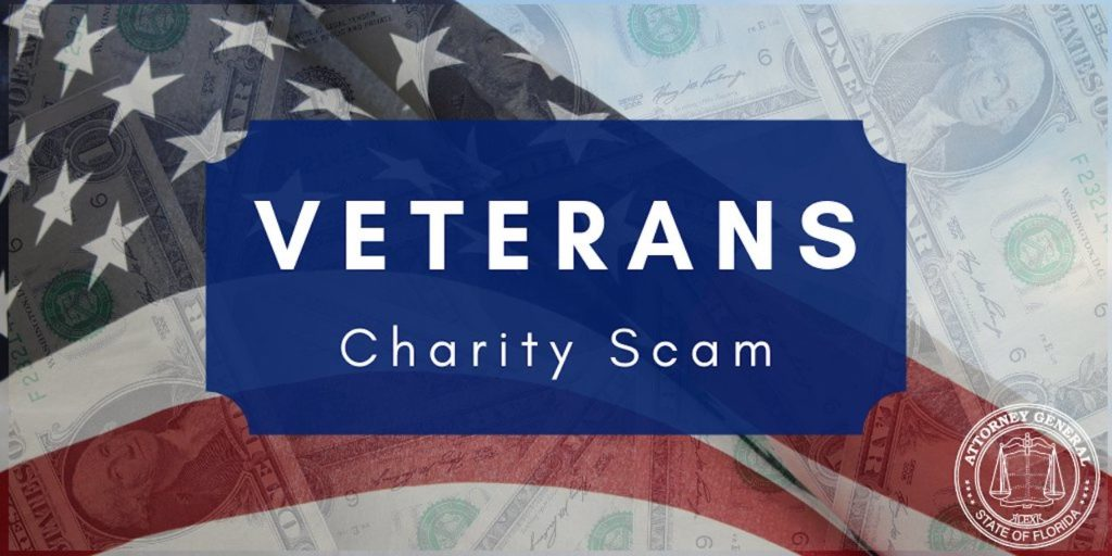 Veterans Charity Scam Logo