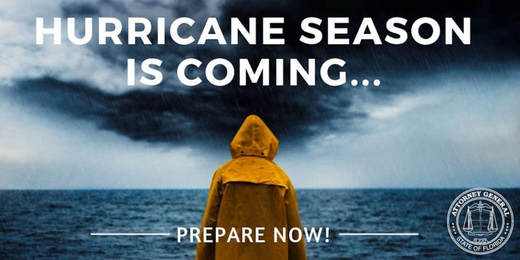 Hurricane Season Is Coming...Prepare Now! Concept Image.