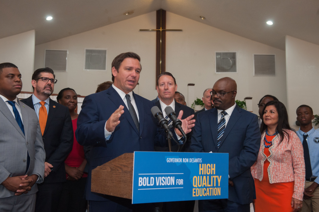 Governor Ron DeSantis Delivers Remarks on Education Achievements at Mt. Moriah Christian Fundamental Academy.
