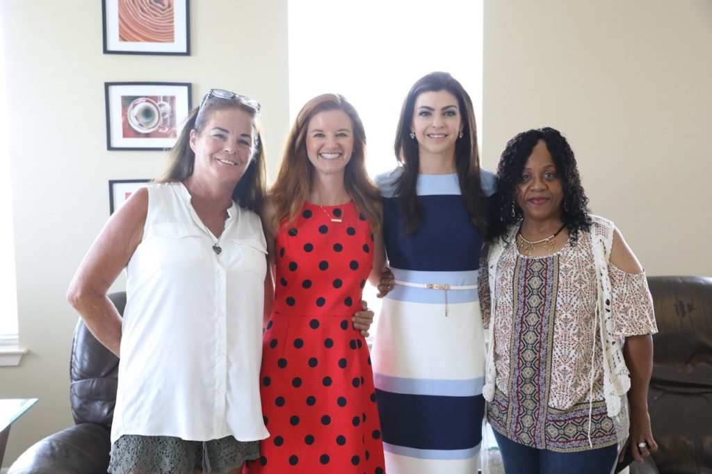 First Lady Casey DeSantis pictured with the three medal recipients.