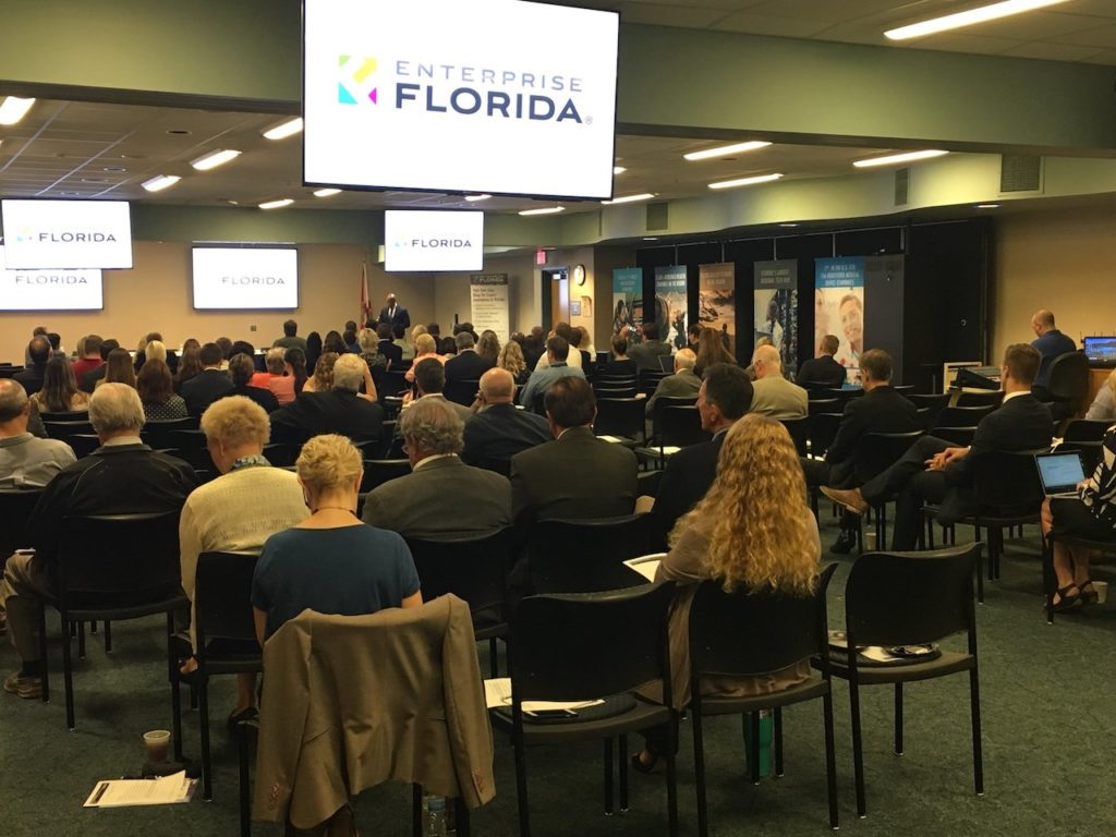 Photograph of attendees at the EFI Snapshot event today in Pinellas County at the St. Petersburg College EpiCenter