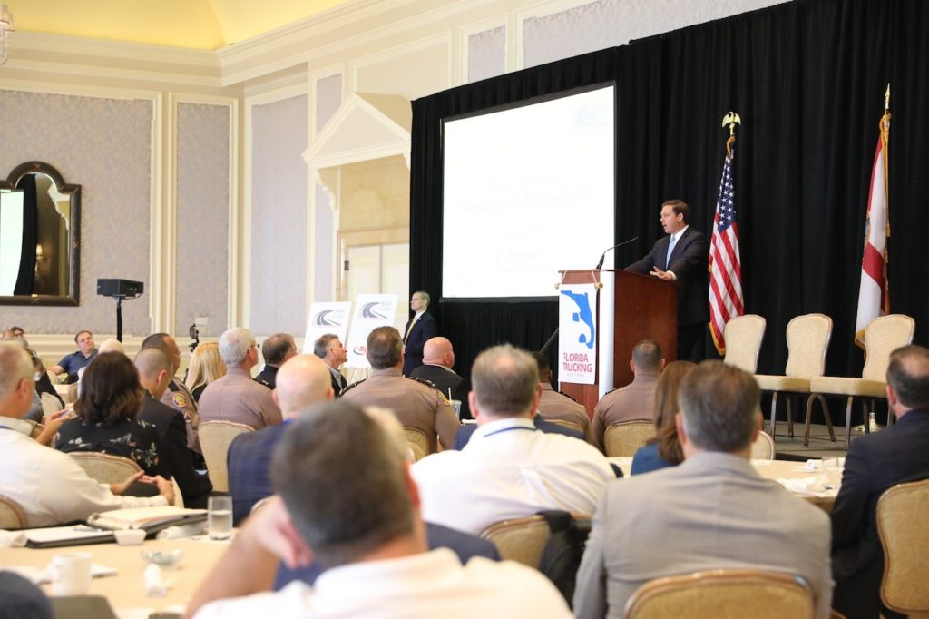 Governor Ron DeSantis delivers remarks at the Florida Trucking Association Annual Conference.