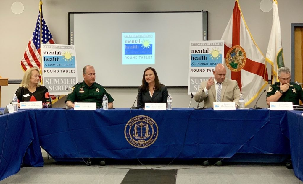 Attorney General Ashley Moody pictured today at the Mental Health and Criminal Justice Round Table.