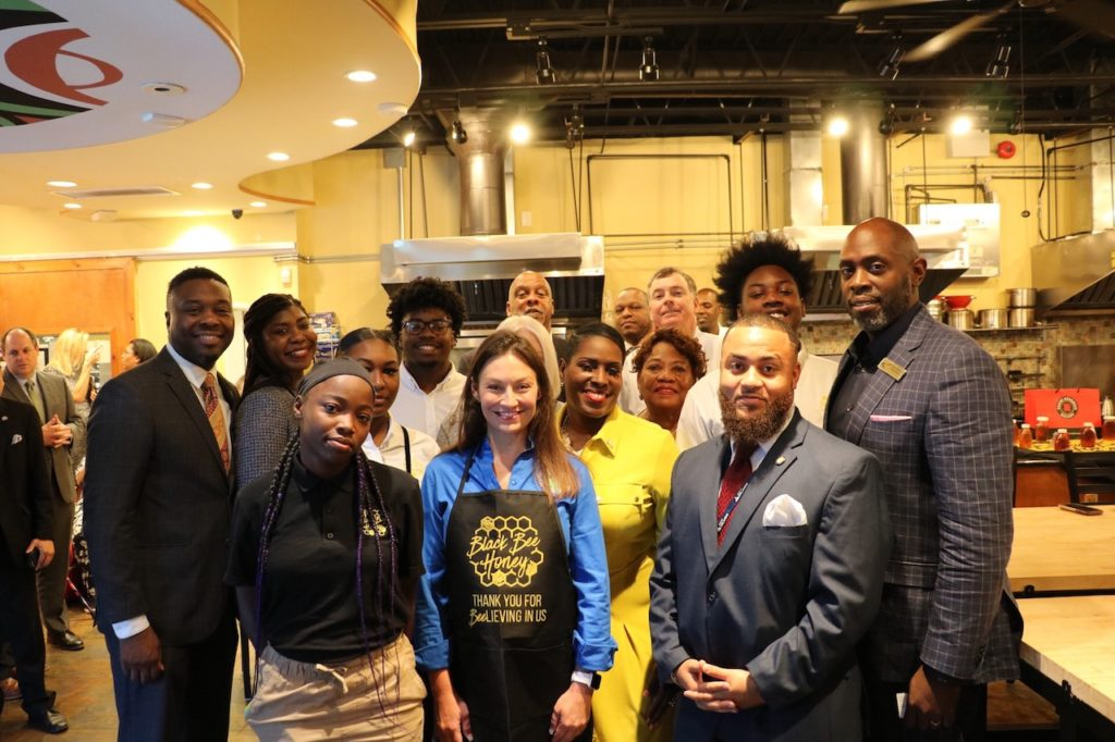 Commissioner Nikki Fried pictured with attendees at the Hebni Nutrition Press Conference on Wednesday, July 17, 2019.