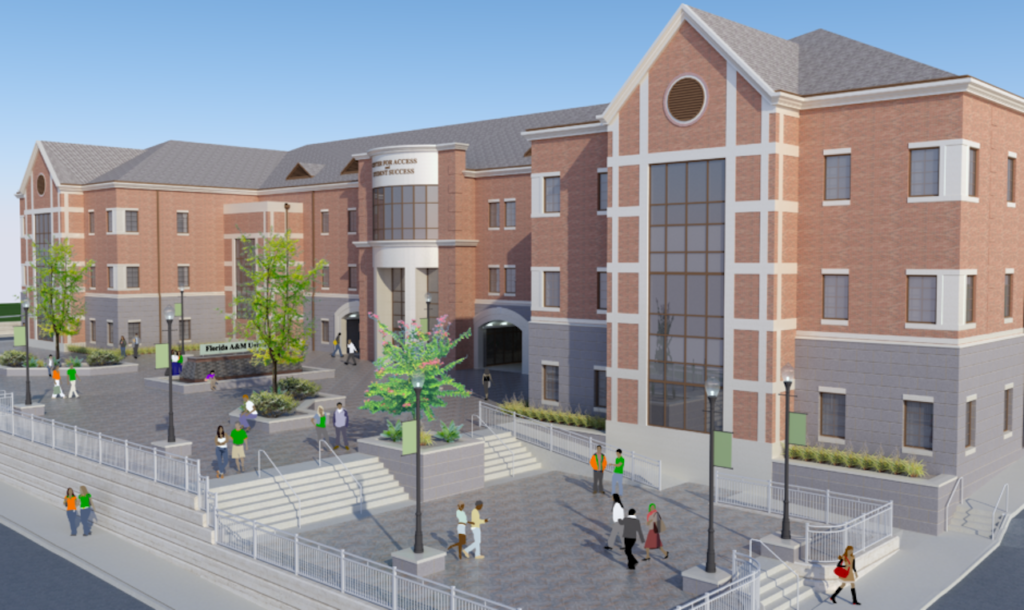 Image rendering of what will be FAMU's new Student Services Building