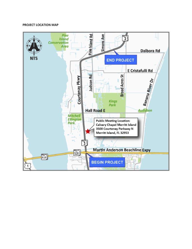 FDOT project location map