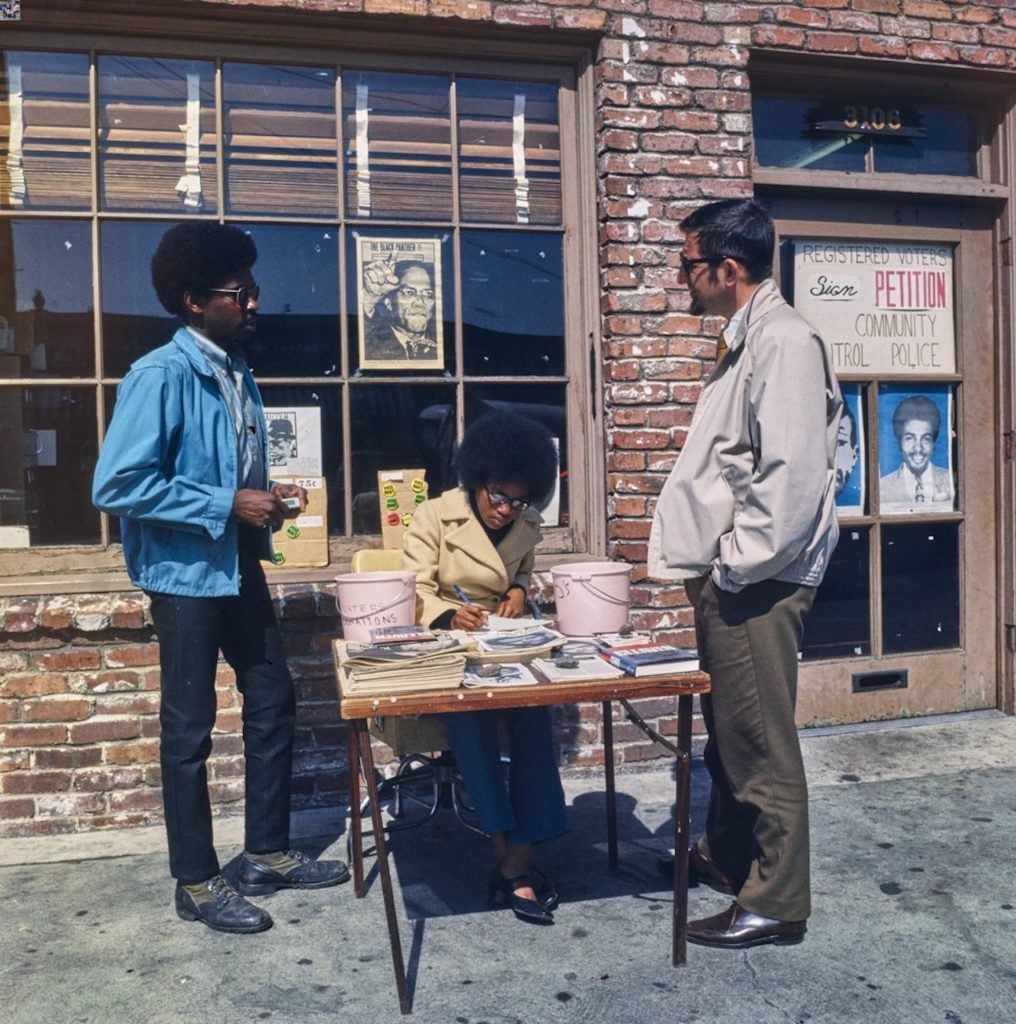 1. Black Panther Party headquarters, Oakland, Calif., Courtesy UC Santa Cruz; Photo by Marion Baruch, 1968.