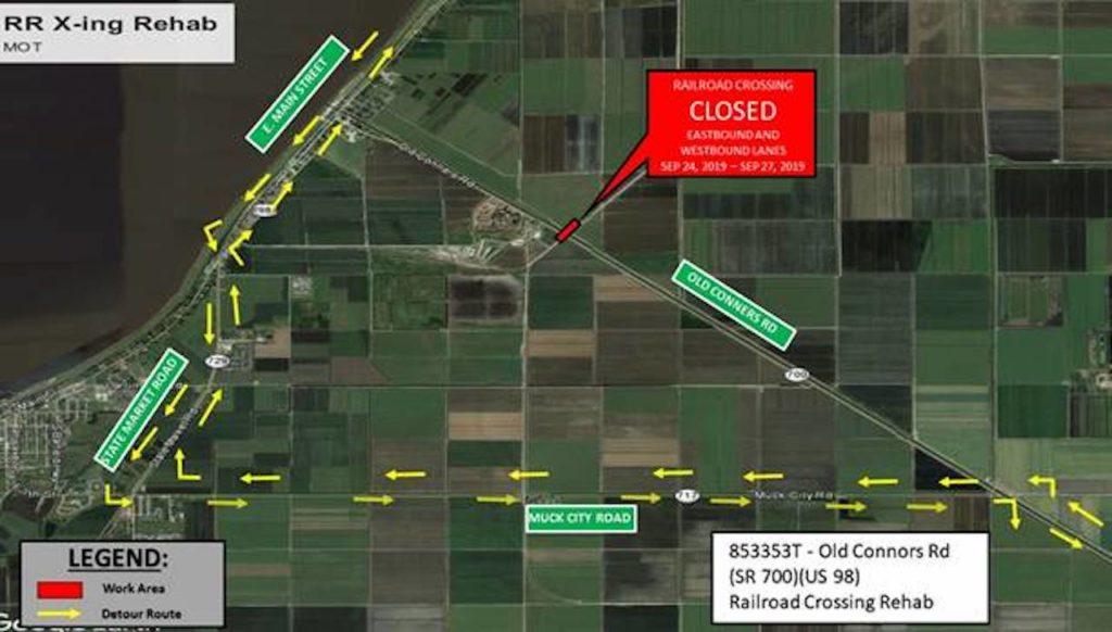 Detour Information Map