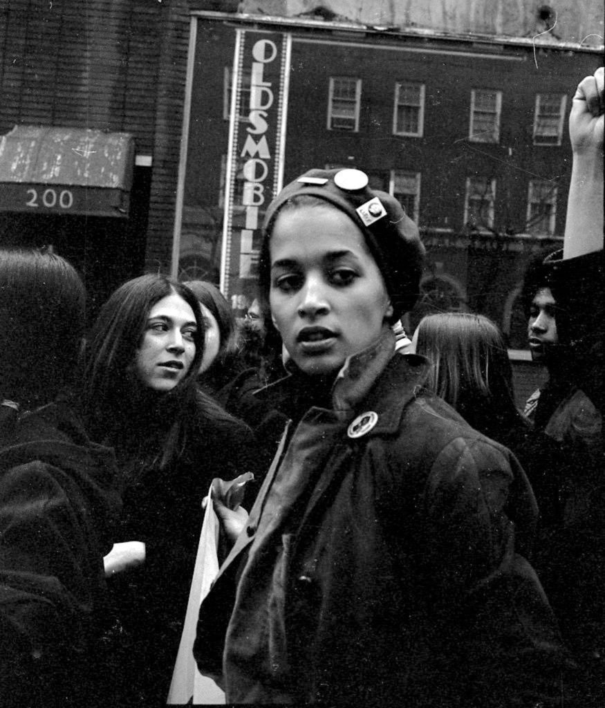 Young Lords Party leader Denise Oliver, at New York City rally to free political prisoners. Courtesy Bev Grant