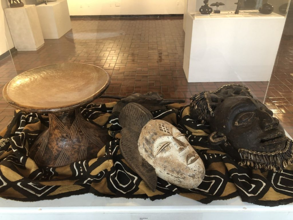 Display at the African Art Exhibit