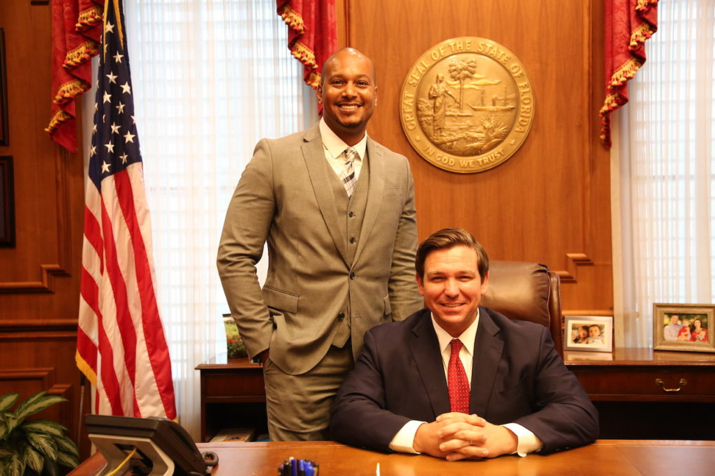Randall Hunt pictured with Governor Ron DeSantis.