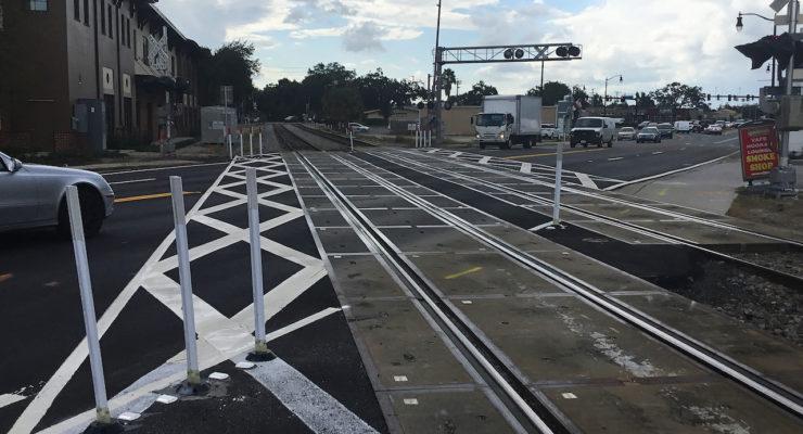 Railway street crossing