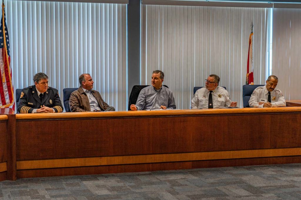 CFO and State Fire Marshal Jimmy Patronis pictured at today's roundtable.