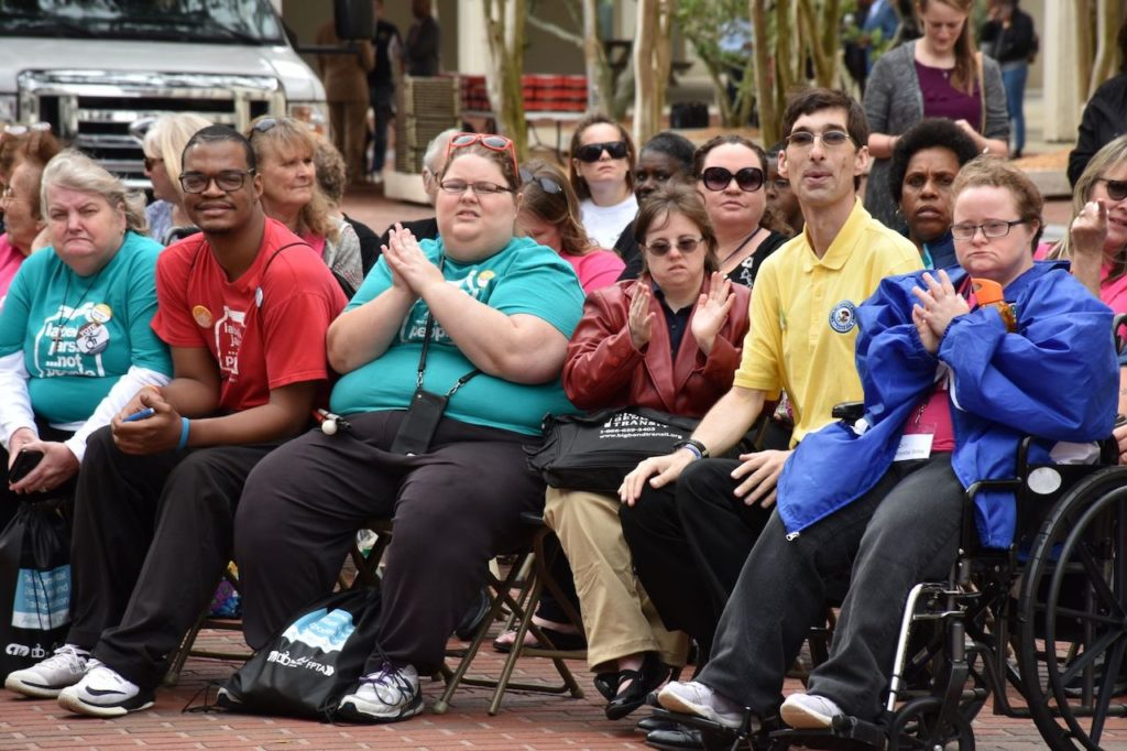 Attendees of Developmental Disabilities and Transportation Awareness Day