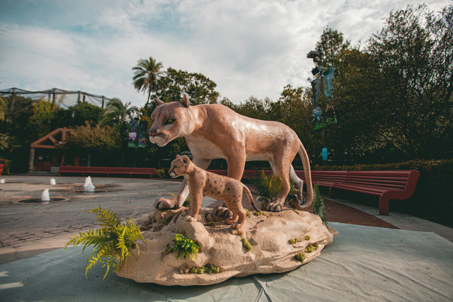 Melting Panther Sculpture